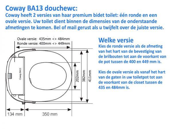Coway BA13 technische tekening
