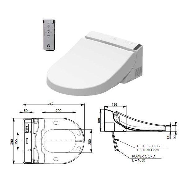 TCF6532C3G washlet technische tekening