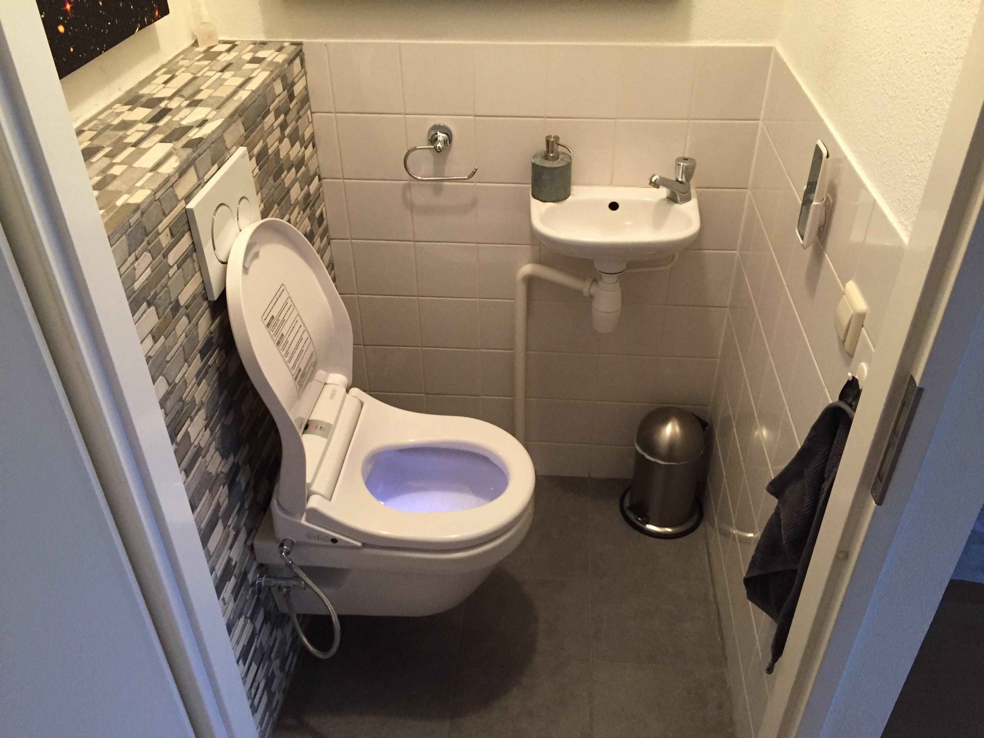 Renovatie toilet met maro di douchewc frissebips