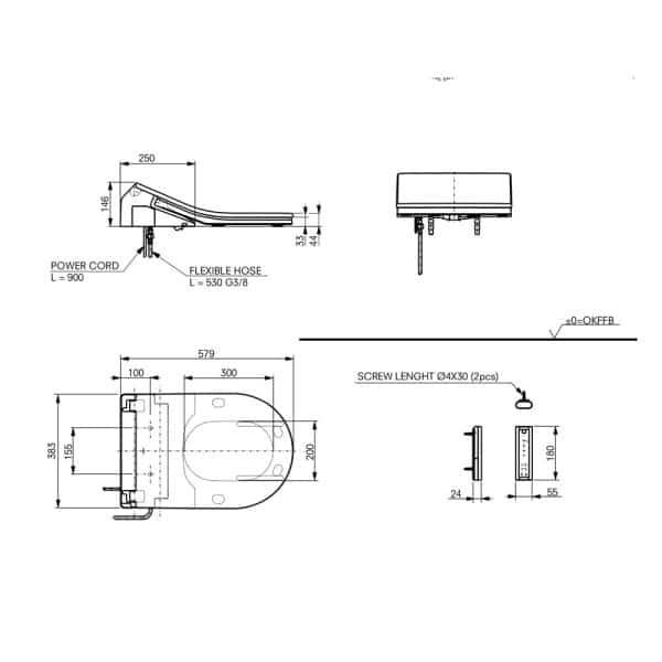 TCF794CG_technische_tekening_Washlet_RX