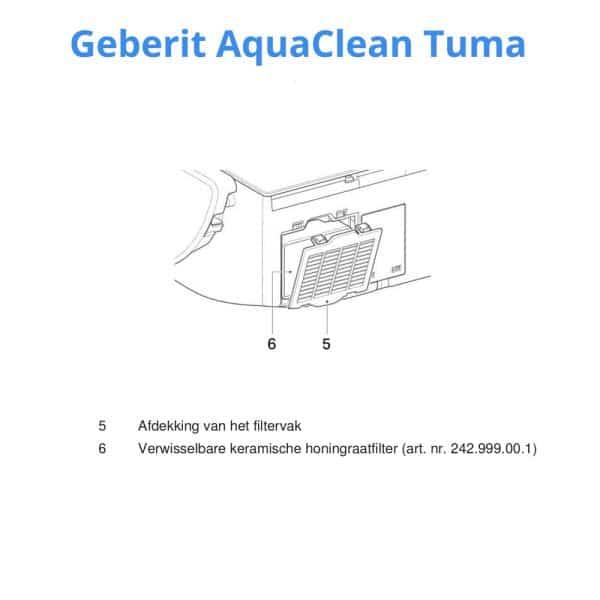 Geberit-AquaClean-Tuma-keramische-honingraadfilter-type-3